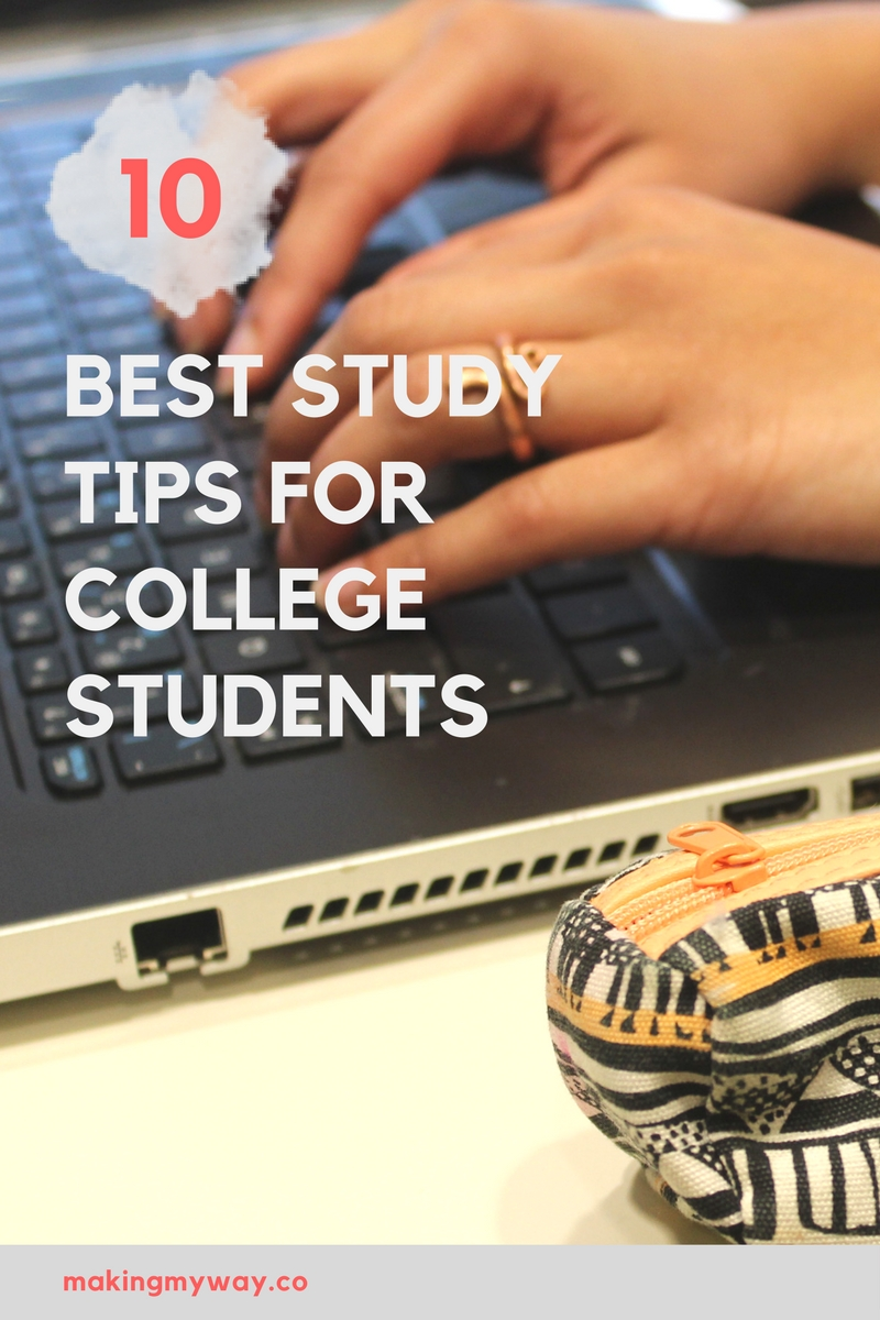 how to make a study guide for college students