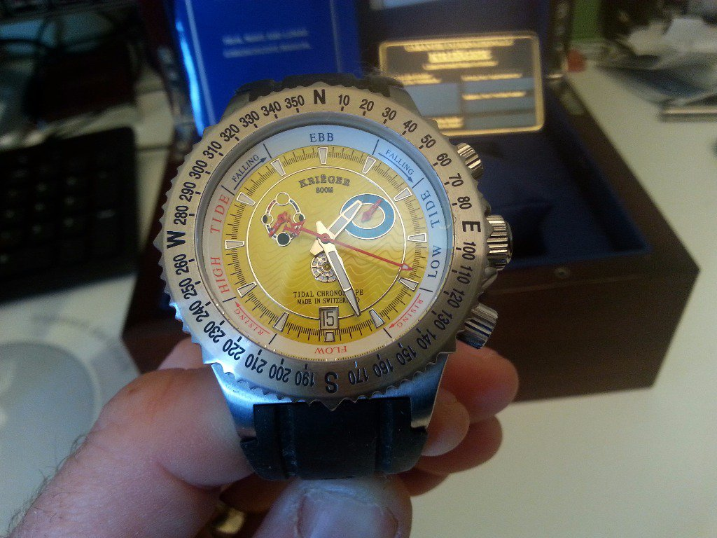 krieger tide watch instructions