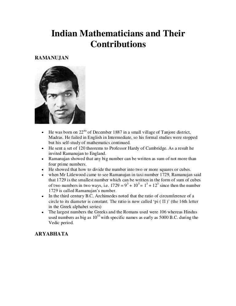 famous mathematicians and their contributions pdf