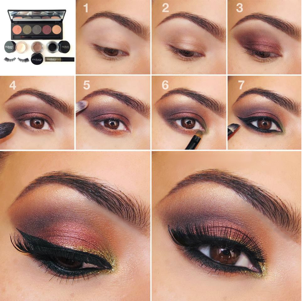 eye shadow application