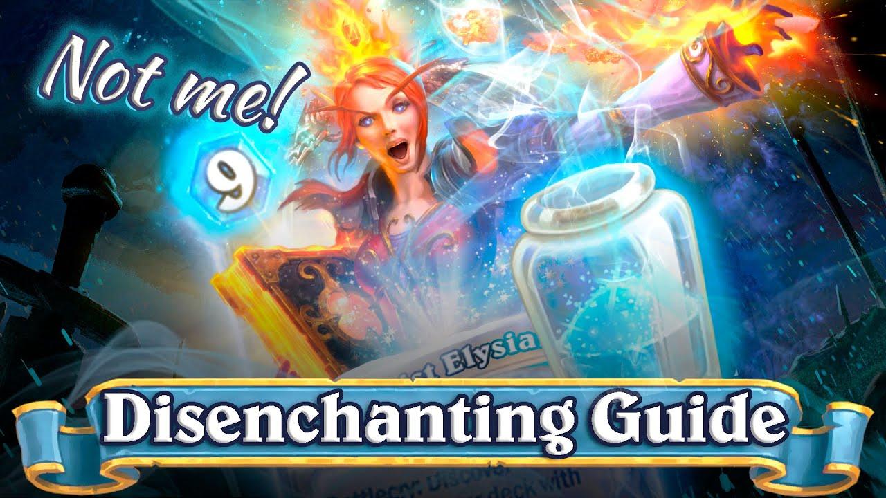 hearthstone legendary disenchanting guide
