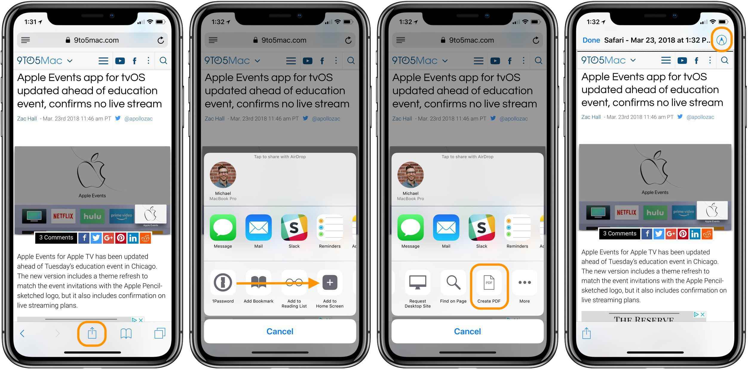 how to save something as a pdf on iphone