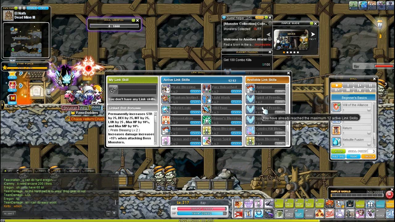 maplestory dual blade hyper stats guide