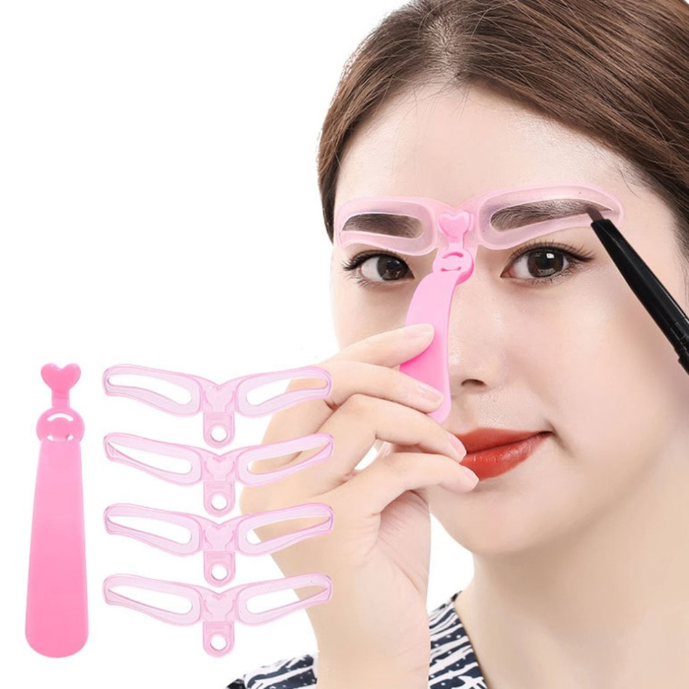 eyebrow guide template stencil shaping diy tool