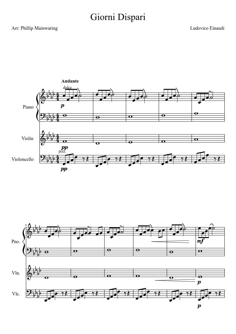 i giorni piano sheet music pdf