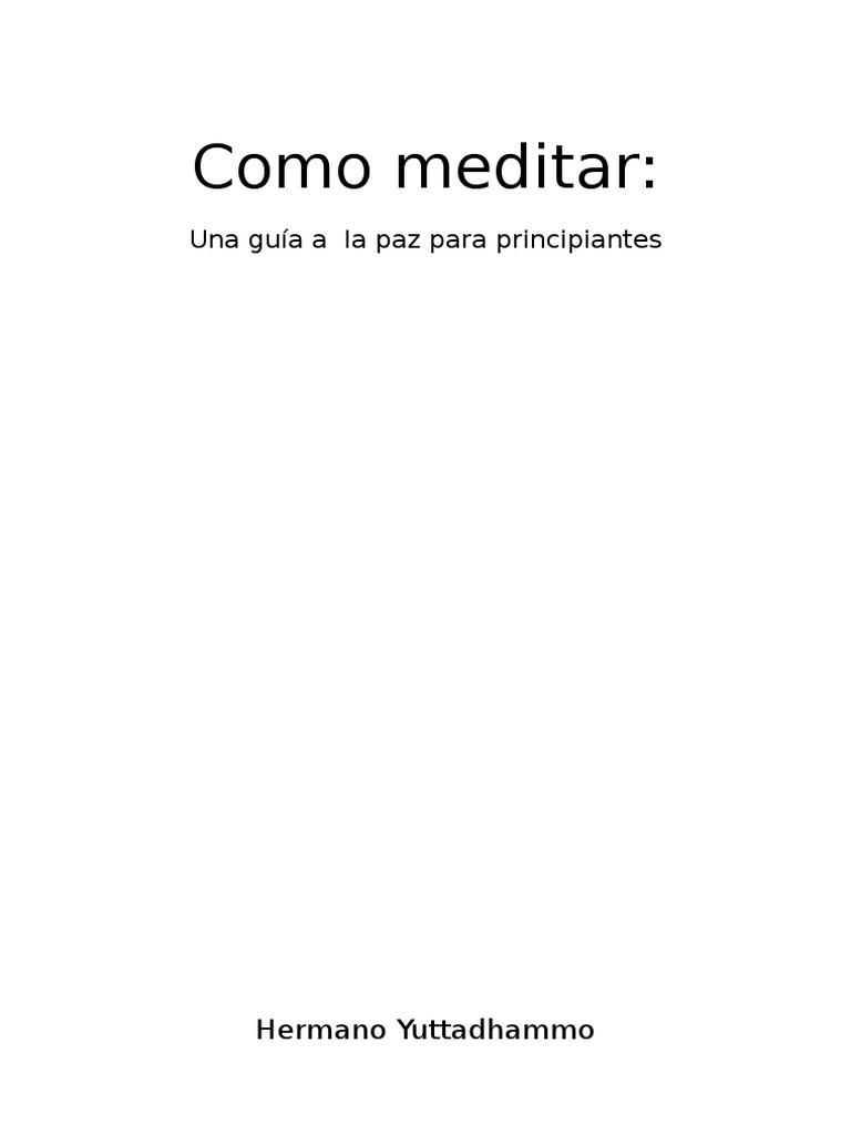 el arte de la meditacion pdf