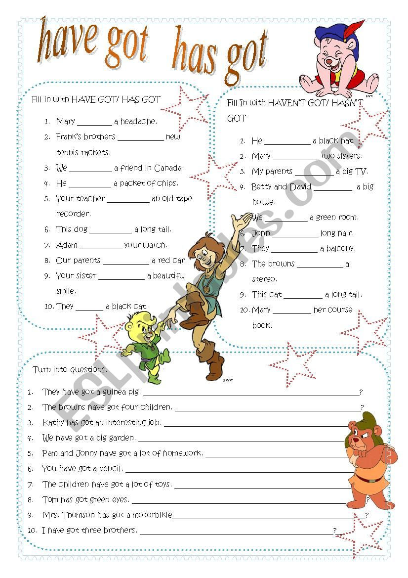 esl have got worksheet pdf