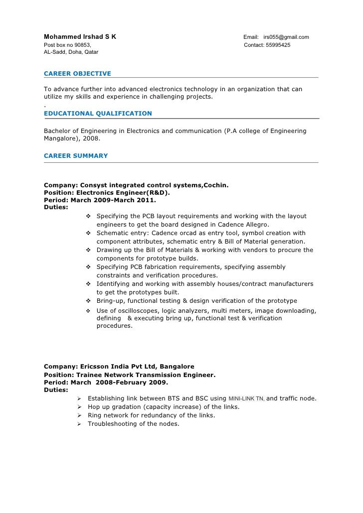 manual testing resume for 2 years experience