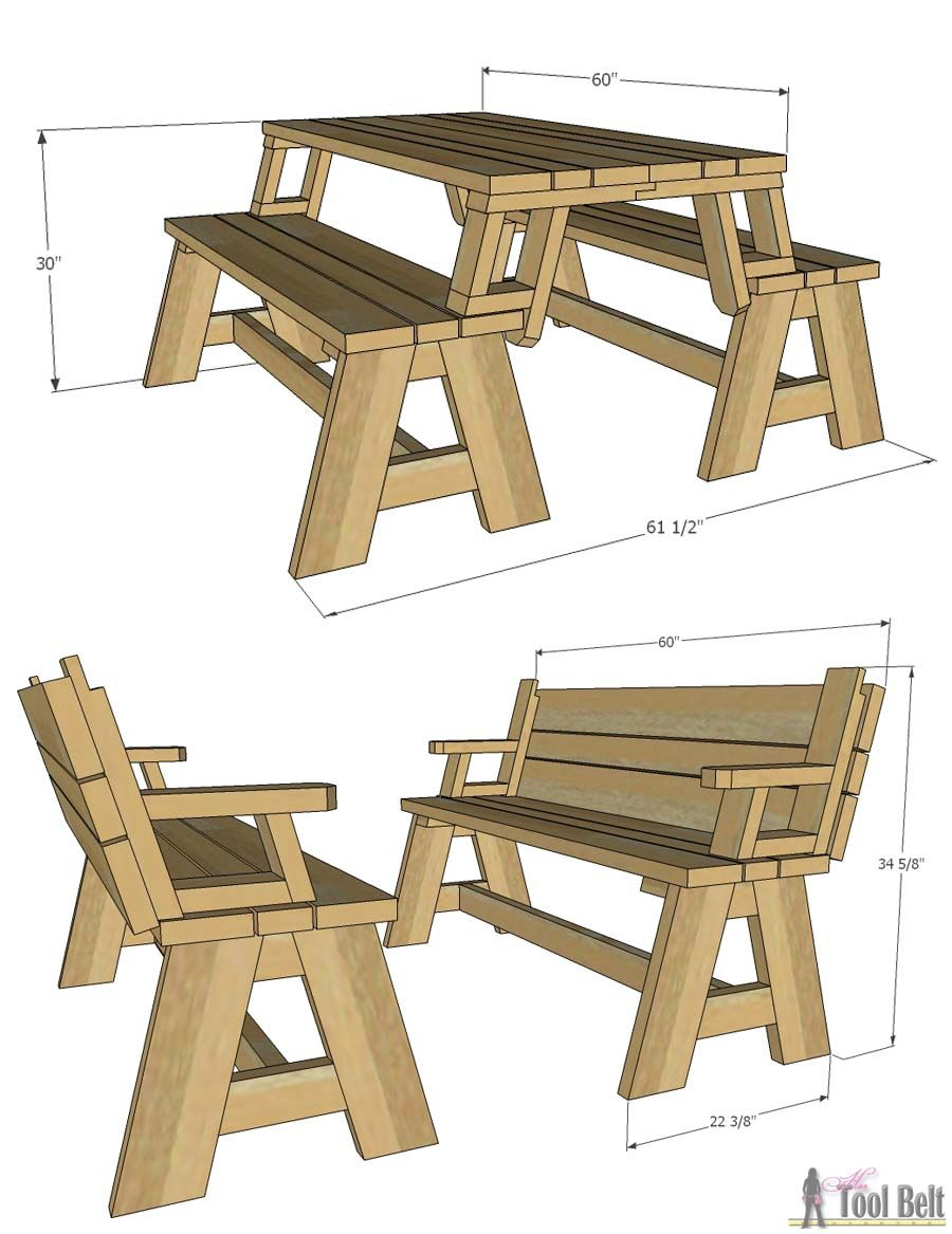 folding picnic table plans pdf