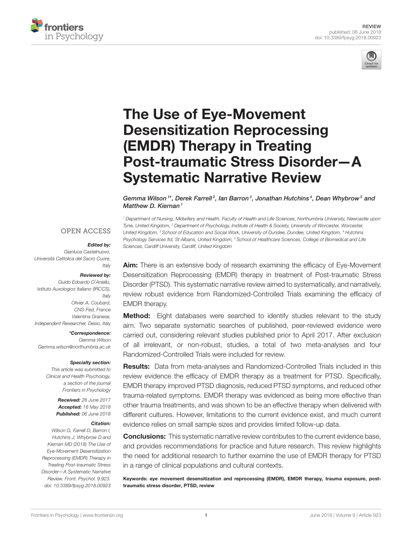 emdr therapy for ptsd pdf