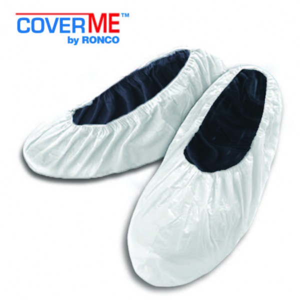 free sample titan polypropylene shoe cover with non-slip coating white