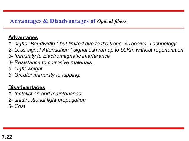fiber optic advantages and disadvantages pdf