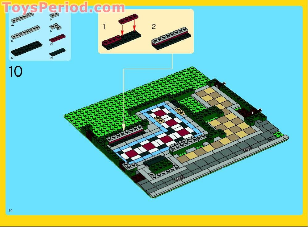lego modular building instructions free