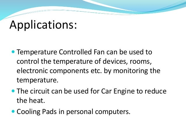 fan temperature application