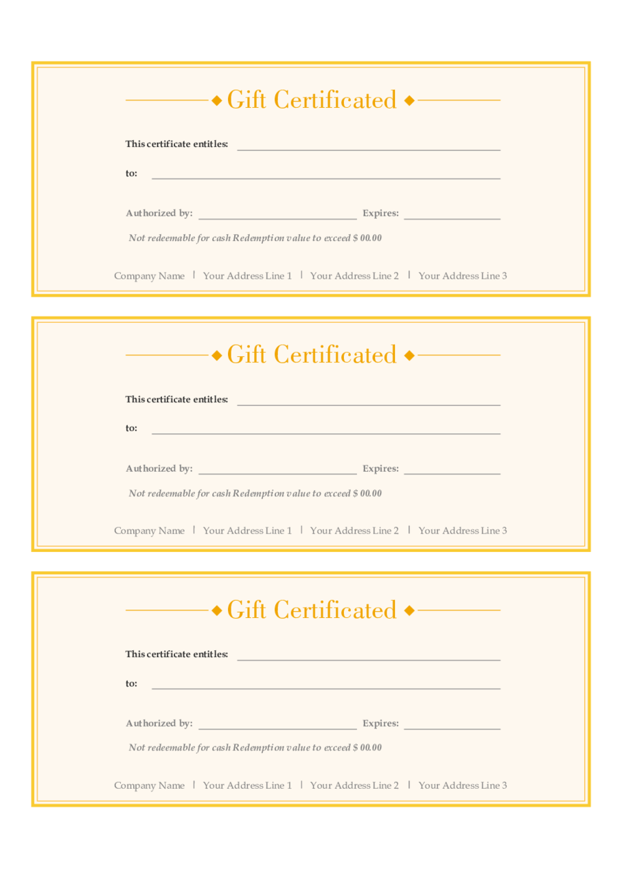 free gift certificate template pdf