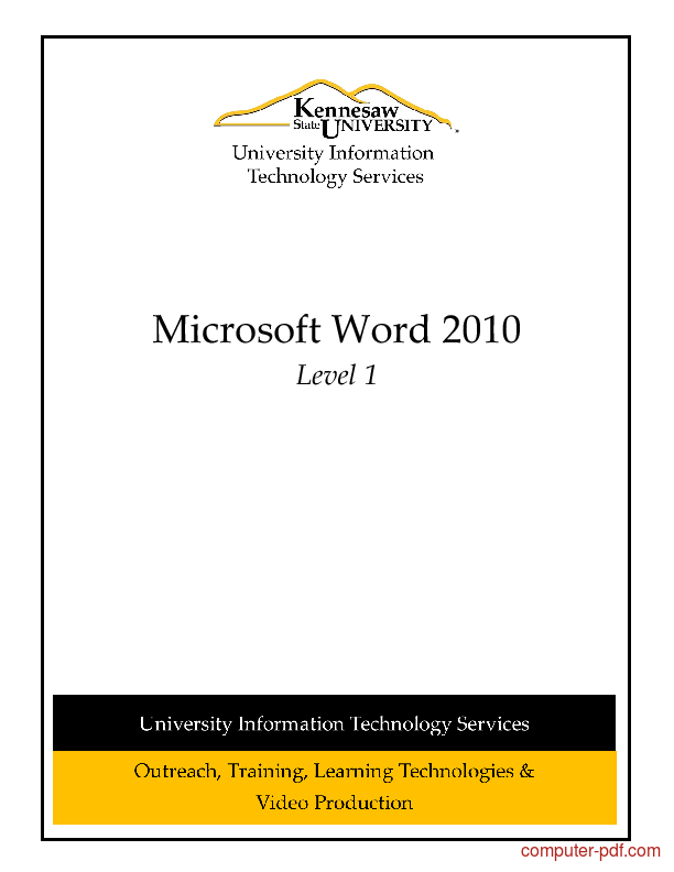 introduction to ms office pdf