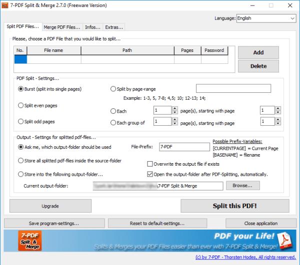 how to split a pdf windows