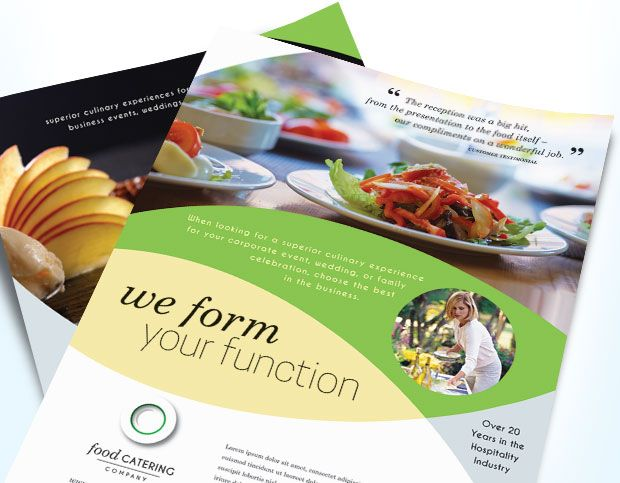 flyers sample for food