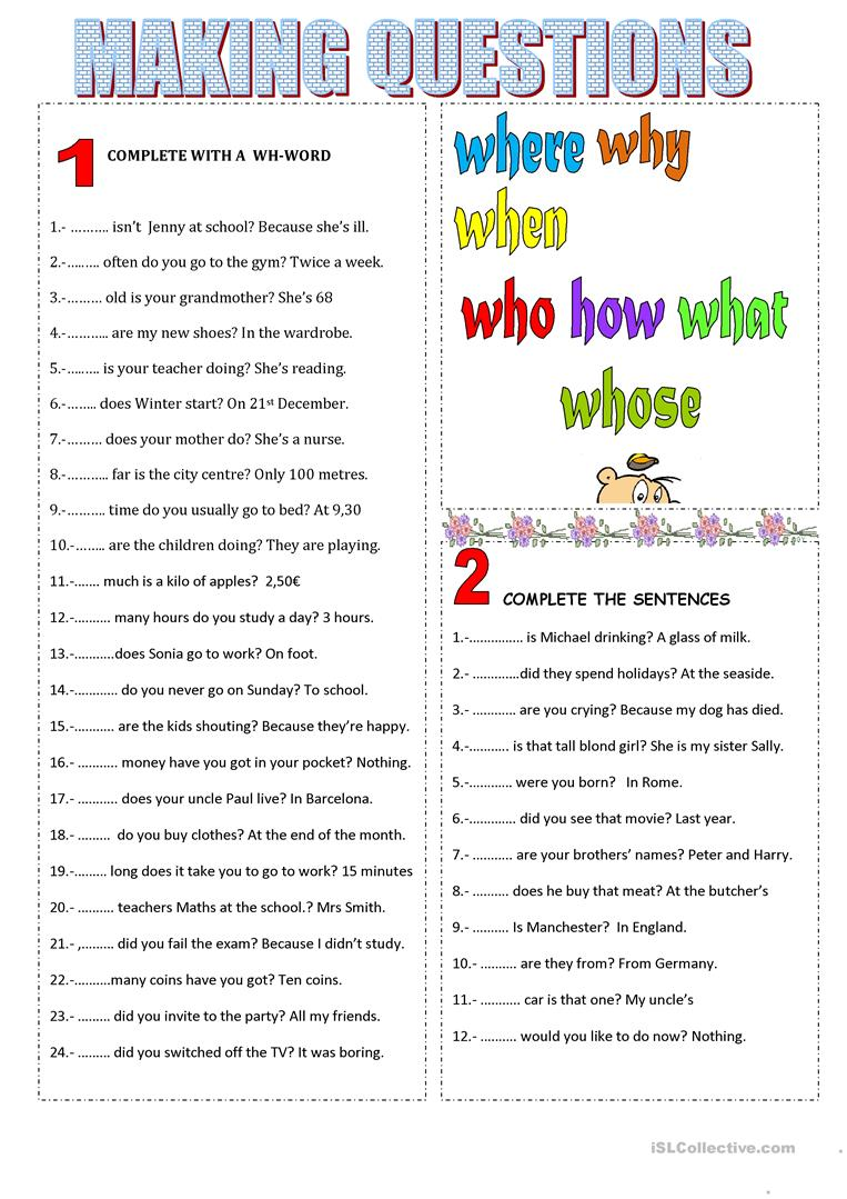 how to ask questions in english pdf