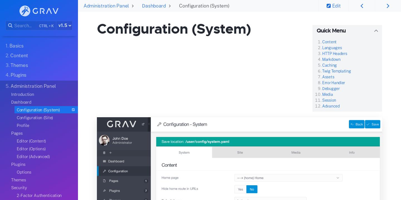 grav documentation