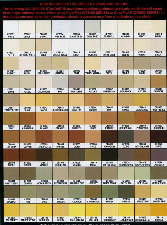 formica laminate color chart pdf