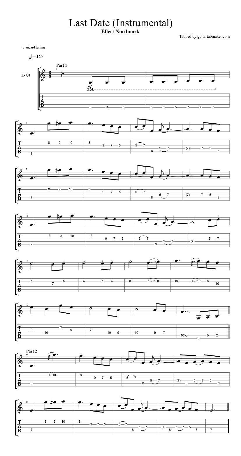 easy guitar tabs pdf