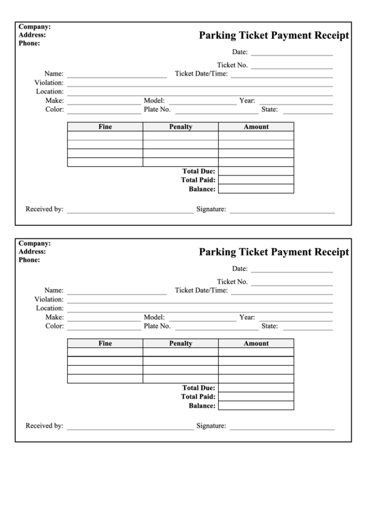fake parking ticket pdf free