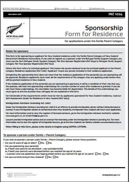 essential skills visa nz application form
