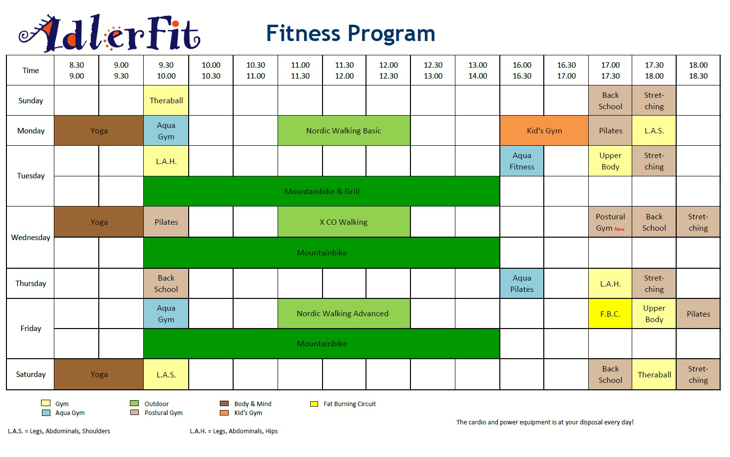 fitness classes advertisement application