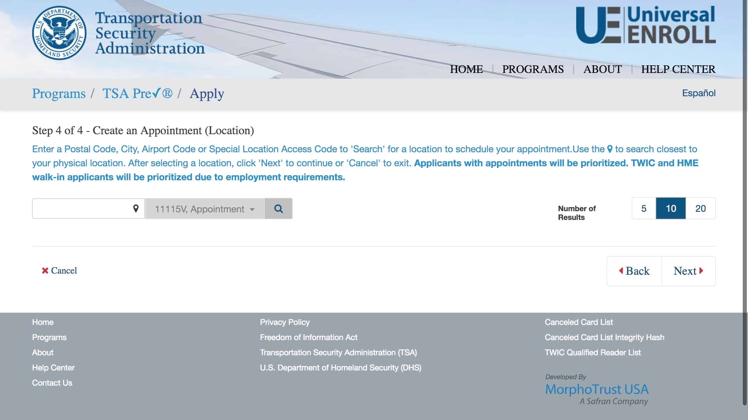 global entry application student