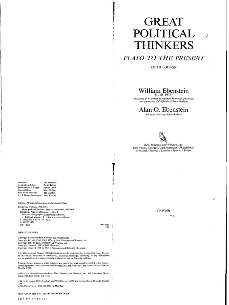 great thinkers book pdf