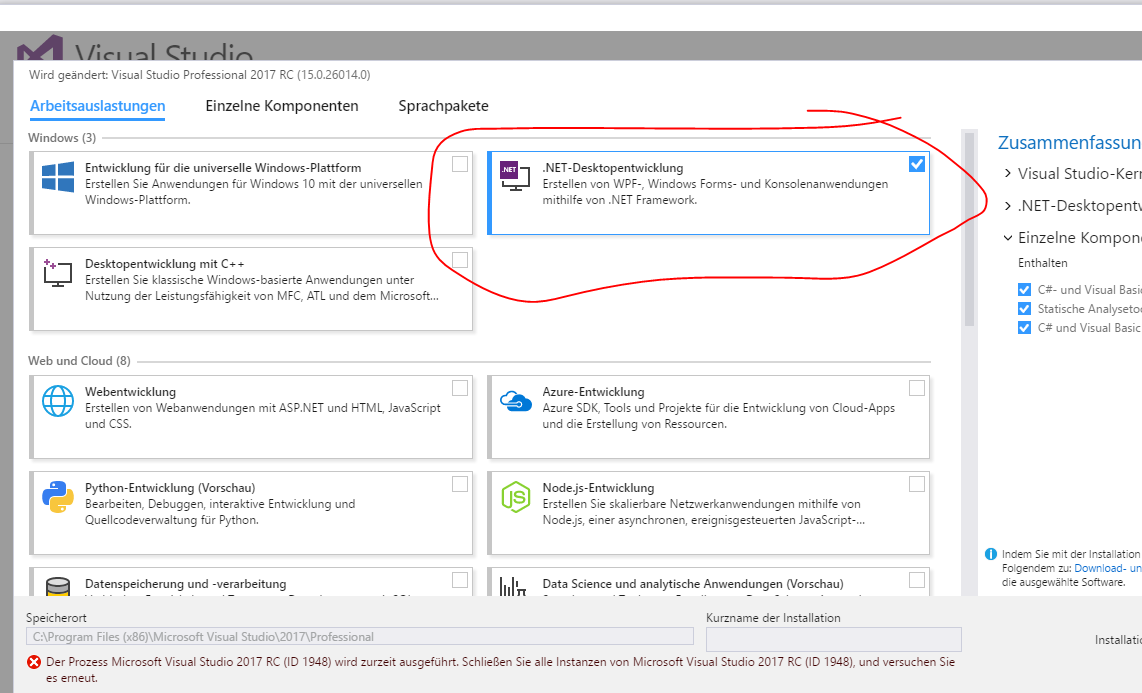how to install windows form application in visual studio 2017