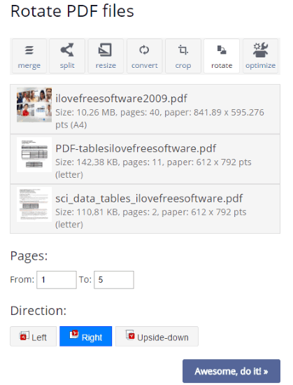 how to rotate only one page pdf