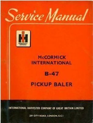 international b47 baler manual
