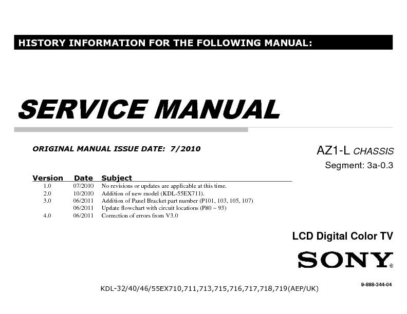 kdl-46ex710 service manual