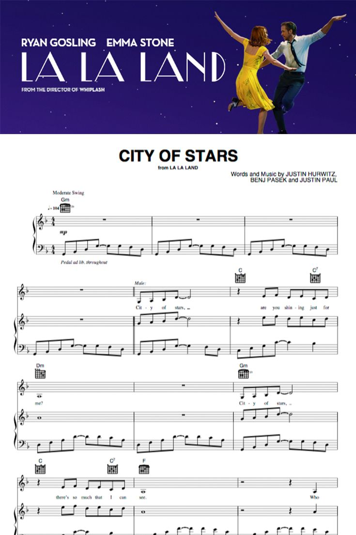 la la land piano sheet music pdf