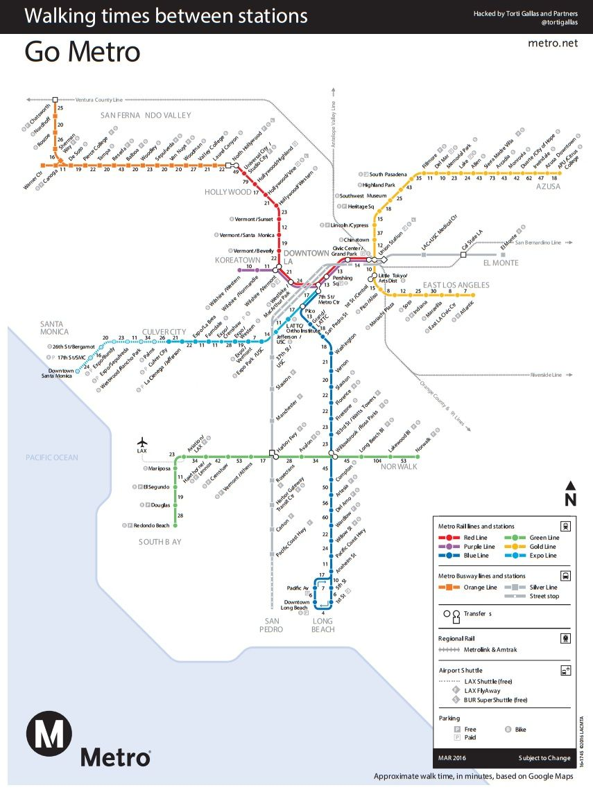 la metro map pdf