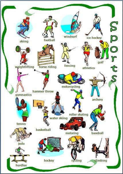 list of sports a-z pdf