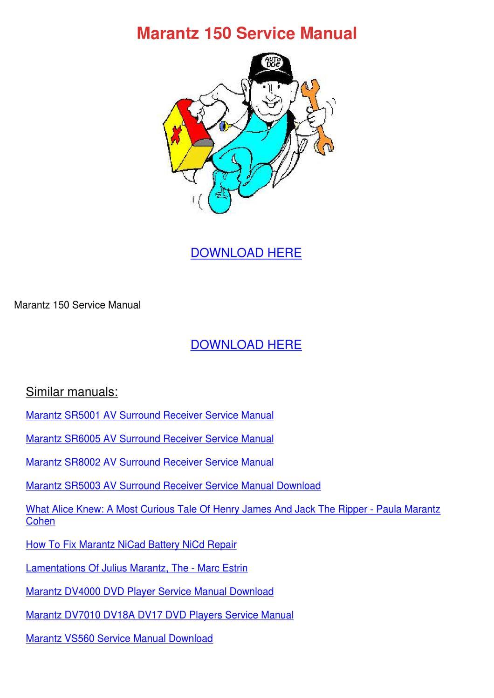 marantz sr3053 manual